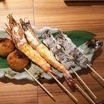 串焼 くる味 - 「串焼き(その2)」れんこんつくねは特に絶品♪