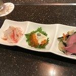 kyoutodainingumasayoshi - 前菜3種