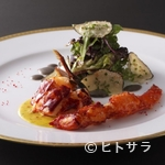 レストラン クレッセント - 風味引き立つ『ブルターニュ産オマール海老のサラダ仕立て』