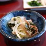 和食 瑞花 - 大根、わかめ、きくらげの甘酢漬け