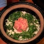 吉乃坐 - 大葉と明太子のバター土鍋ごはん
