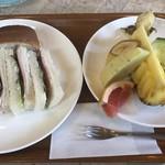 果実香 - サービスセット サンドウィッチ