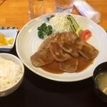 くまねこ食堂 - 生姜焼き定食 780円
