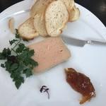 ビストロケンヂ - 前菜の白レバーとフォアグラのバテ