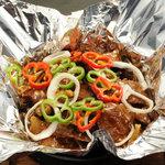 永利 - 料理写真:牛肉の黒胡椒鉄板焼