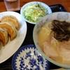 Asuta - 料理写真:セット2、ラーメン3分の2サイズと、ぎょうざのセット、激うま!!