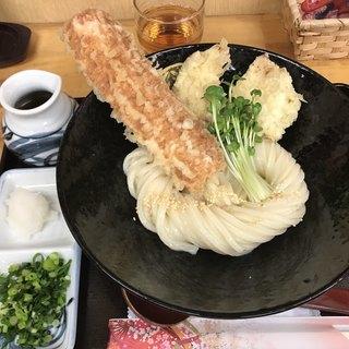 手打ちうどん 紅屋 - 料理写真:鶏ちく天ぶっかけ(920円)