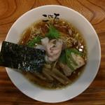 日本橋麺処こはる - 醤油らぁめん(750円、真上から)