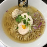 超純水採麺 天国屋 - 2018/1/20限定・柚子淡口白醤油麺 しめご飯付(1000円)