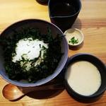 Oomurokeishokudou - 地のり麦とろ丼