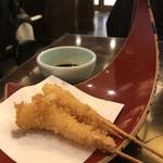 赤のれん - 海老の串カツ