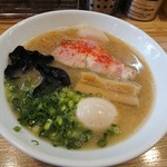 79668124 - 濃昆鶏白湯(醤油)+味玉