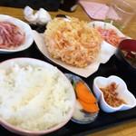 ごはん屋さくら - 桜えび定食(1130円)
