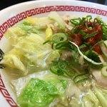 茨城タンメン カミナリ - ニンニク たっぷり スープ