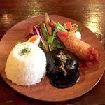 京都 れとろ洋食 LOCAVO - ハンバーグ&クリームコロッケ  ¥1300