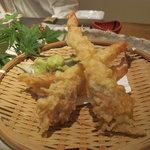 祇園たかしるや - 海老の天ぷら