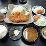 とんかつ水龍 - 極(上)ロースかつ定食(150g)