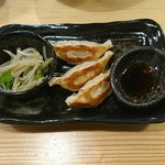 クリーミーTonkotsuラーメン 麺家 神明 - ランチセットの餃子