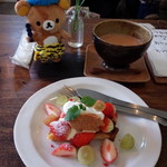 チャイカフェ - 苺のタルト、チャイ。