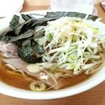 中川家 - チャーシュー麺1050円にネギトッピング50円!