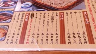 つけ汁家 安曇野 - 17/02メニュー表