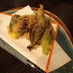 味祭り 一歩 - 茗荷の天ぷら。