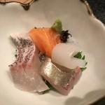 79702043 - ☆コースの刺身。鯛が美味い!
