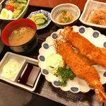 香悦 - 有頭海老フライ定食