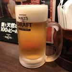 下町焼きそば 銀ちゃん - H30.1 ほろ酔いセットの生ビール