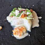 79706324 - 北海道産マダラの蒸し焼きと白子のムニエル ヴェルモット風味