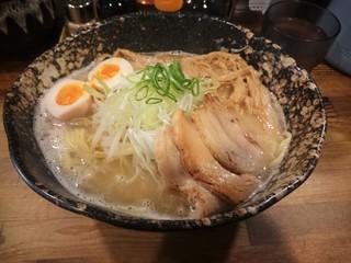 我羅奢 - 鶏白湯ラーメン 塩(\750)