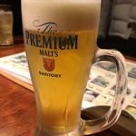 うまいもん屋 楽 - 生ビール