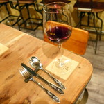 トラットリア・フィーロ - 赤ワイングラス