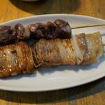 焼きとり・遊食武蔵 - 料理写真:豚バラ、砂肝