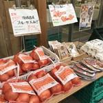 ひょうごイナカフェ - 店頭に並ぶ野菜たち(2018.1.21)