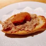 ラ キュイジーヌ ド カワムラ - 豚肉のリエットにリンゴピューレ様