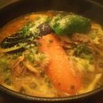 カーニャ パッソ - コラーゲンたっぷり牛すじと野菜のスープカレーパスタ 1300円(税込)