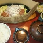 79723422 - 鉄板ねぎ味噌ロースカツ定食(税抜1,380円)