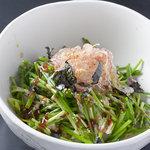 千房 - 若いネギを使った特製味噌風味のサラダ ネギサラダ
