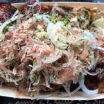 ぼん蔵 - 料理写真:ピリ辛ネギたこ焼き