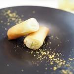 龍圓 - 寒玉キャベツの春巻き カラスミパウダー