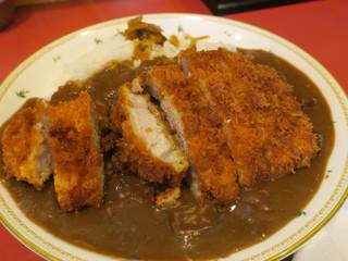 水戸屋食堂 - お肉を横にしました