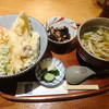 さぬきや - 料理写真:豪華特上天丼+深川うどん+小鉢