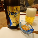 八ヶ岳・そば処 てくてく - プレモル 瓶ビール