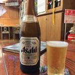 手打蕎麦 大江戸 - 瓶ビール(アサヒ) 600円