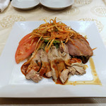 南国亭 - 蒸し鶏の前菜