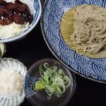 戸隠製粉 - ソースカツ丼セット(追加:辛味だいこん)