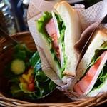 百合珈琲 - 料理写真:ハムとチーズ(サンド)