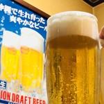 沖縄料理 ダルマ - オリオン生ビール¥550