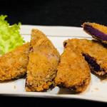 沖縄料理 ダルマ - 紅芋コロッケ¥500